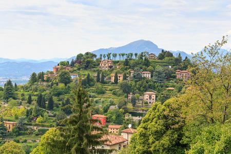 monte: Mountain Monte Bastia panorama in Bergamo, Italy