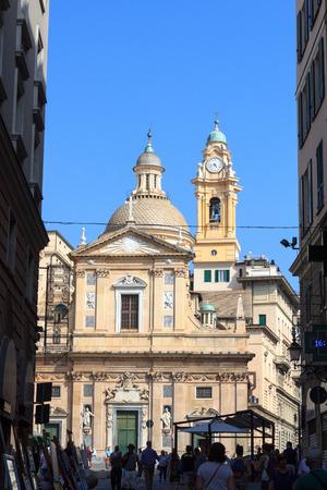 chiesa: Church Chiesa del Gesu in Genoa, Italy