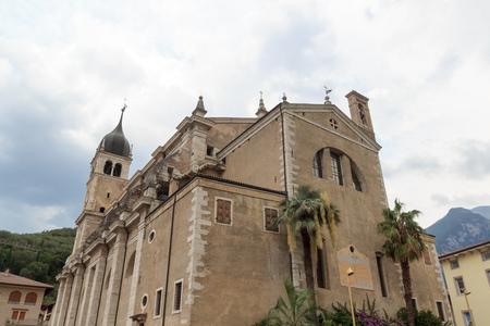 Church of Santa Maria delle Grazie in Arco, Italy Stock Photo