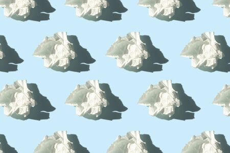 allergy season concept pattern of white tissues with shadow on blue background