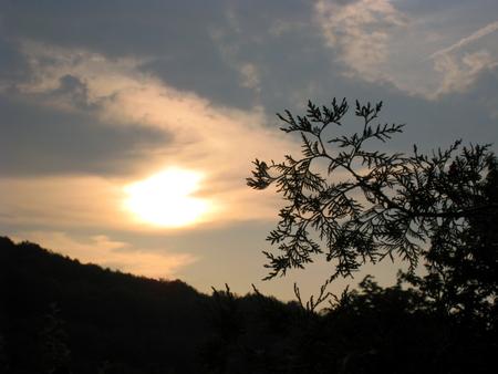 Sonne am Abendhimmel