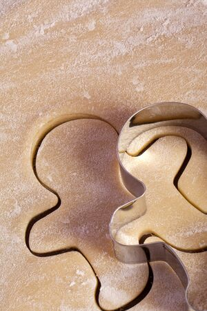 advent, cutting cookies, cookie cutter, baking, bakery, holiday, gingerbrad man photo