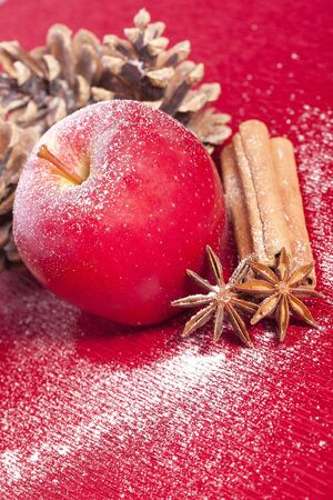 christmas apple anise and cinnamon for holidays photo