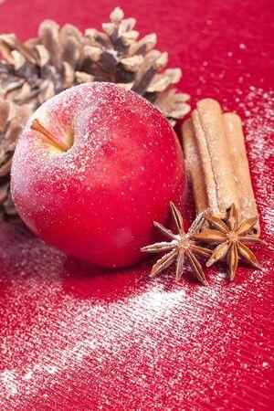 christmas apple anise and cinnamon for holidays photo