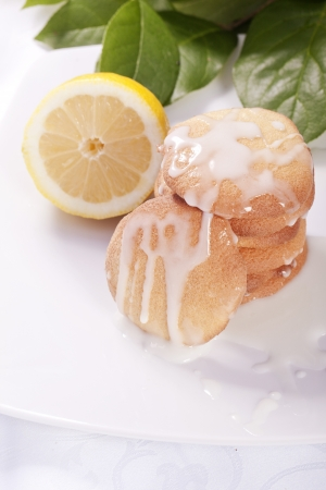 Lemon cookies light healthy diet dessert for the summer