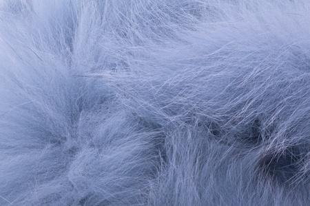stola: Zusammenfassung Nahaufnahme von Luxus-blauen Pelzstola Lizenzfreie Bilder