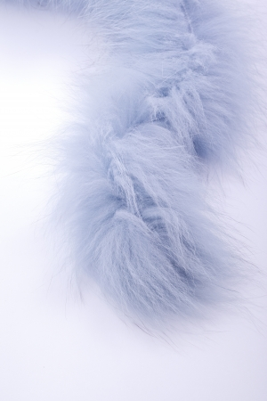 Abstract closeup of luxury blue fur stole photo
