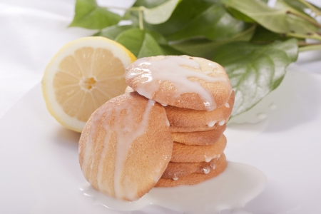 Lemon cookies light healthy diet dessert for the summer