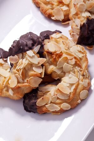 sweet tasty homemade almond horn for breakfirst or coffee break