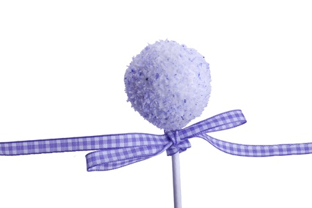 sweet purple cocunut cakepops dessert for party photo