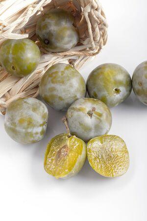 atilde: greengage green plum organic sweet delicious stone fruit