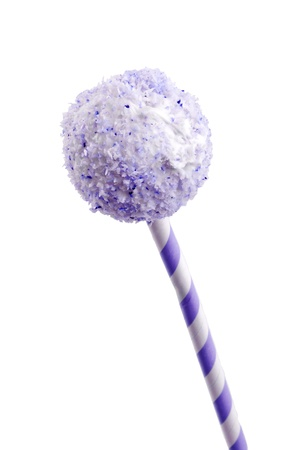 sweet purple cocunut cakepops dessert for party