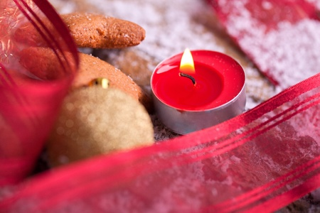 delicious homemade gingerbread star cookies with tealight for christmas athomsphere Stock Photo - 16631842