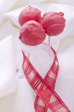 Cakepop sweet dessert for love wedding and yalentines day photo