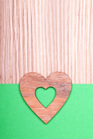 decoratiion: wooden heart decoratiion for valentines day and weeding  Stock Photo