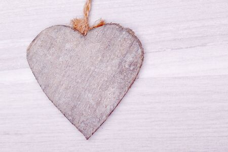decoratiion: wooden heart decoratiion for valentines day and weeding