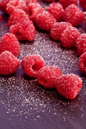 sugared sweet fresh red natural bio rapberry Stock Photo - 18998941