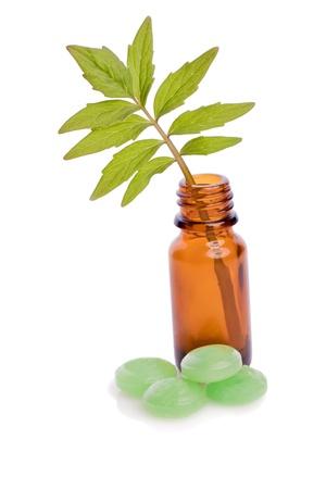 valerian pill natural homeopathic  alternative medicine Stock Photo