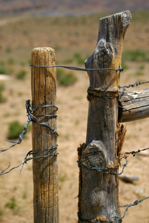 wooden brown range land fence photo