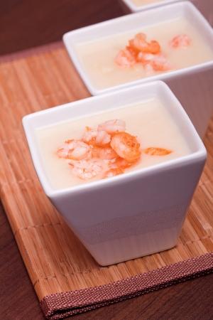 fresh asian  shrimp cream  soup