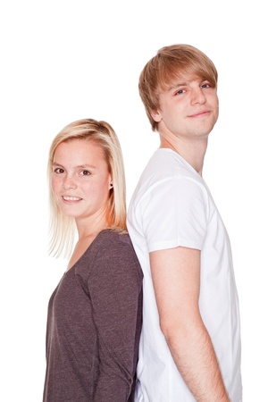 brawl: young couple with problems brawl and freeze off Stock Photo