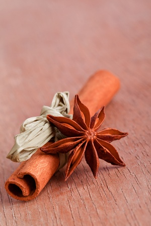 anis: cinnamo and star anis  herb spice