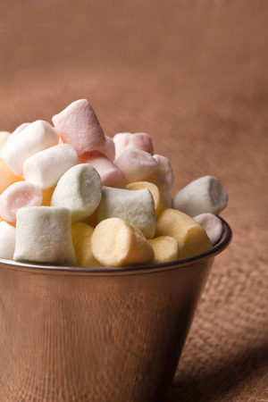 bowel: colorfull mini marshmallow in a tiny bowel
