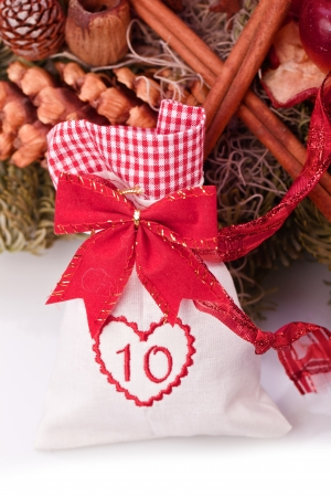 number ten: advent calendar christmas gift bag number ten