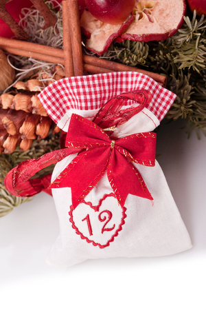 advent calendar christmas gift bag number twelve photo