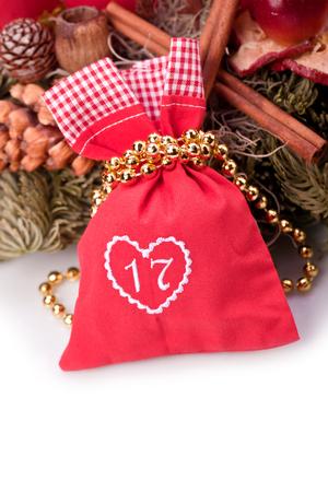 advent calendar christmas gift bag number seventeen photo