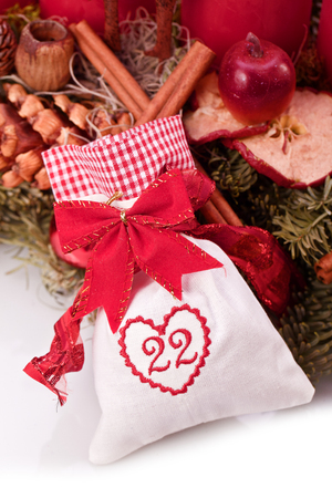 advent calendar christmas gift bag number twentytwo Stock Photo - 22360931