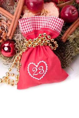advent calendar christmas gift bag number twentythree Stock Photo - 22360932