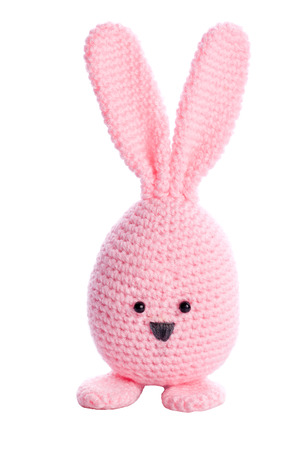 bunny ears: pink handmade stuffed animal easter bunny