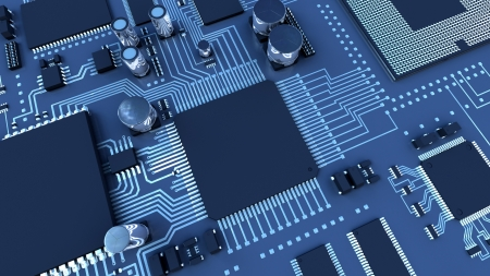 computer generated image: Circuit board