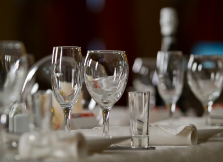 Fine Crystal Table Setting at a Restaurant Stock Photo - 25254489 & Fine Crystal Table Setting At A Restaurant Stock Photo Picture And ...