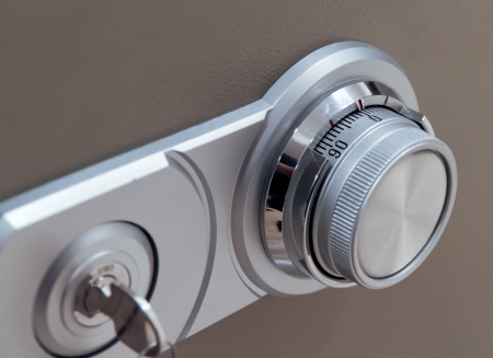 number lock: Combination safe and key lock