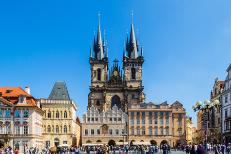 Church of Our Lady before Tyn Chram Matky Bozi pred Tynem . Czech Republic, first Gothic building in Bohemia, about the year 1230, today there is the National Gallery Editorial