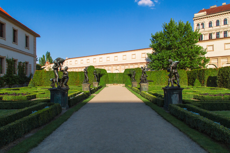Valdstejnska Garden and Prague Castle in Prague, Czech Republic