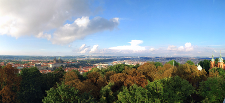 Prague city panorama, Czech Republic. Aerial view Banco de Imagens