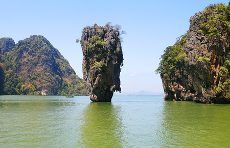 riff: Ko Tapu, James Bond Island, Phang Nga Bay, Thailand, Asien