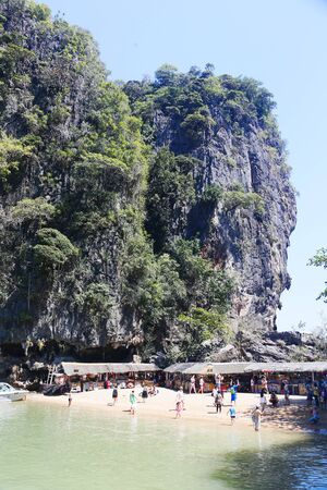 phang nga: Ko Tapu, James Bond Island, Phang Nga Bay, Thailand, Asien