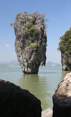 james bond: Ko Tapu, James Bond Island, Phang Nga Bay, Thailand, Asien