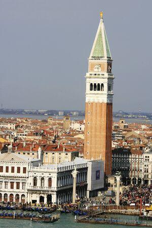 Hintergrund: Hafeneinfahrt der Stadt Venedig, Italien,