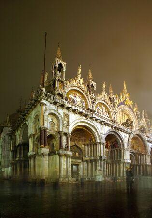 Hintergrund: Venice by Night, Italy, Europe