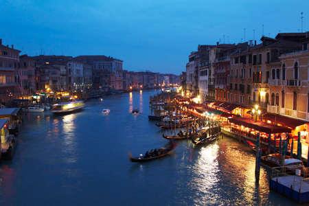 tourismus: Abendlicht am Canal Grande in Verendig