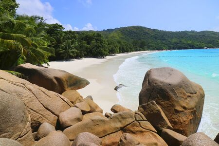 Strand Anse Lazio, Praslin, Seychellen, Afrika, Indischer Ozean