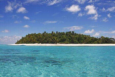 Tropical Island with a paradise beach and palm trees, Fiji Islands Reklamní fotografie