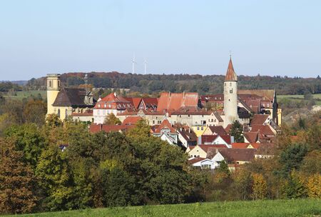 Kirchberg an der Jagst in Hohenlohe, Baden-Württemberg, Germany