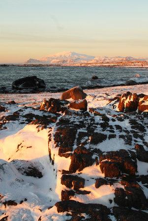 Arnarstapi at the Snaefellsnes Peninsula, Iceland, Europe in winter