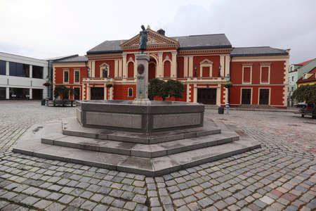 In the City of Klaipeda, Baltic States, Lithuania in Europe